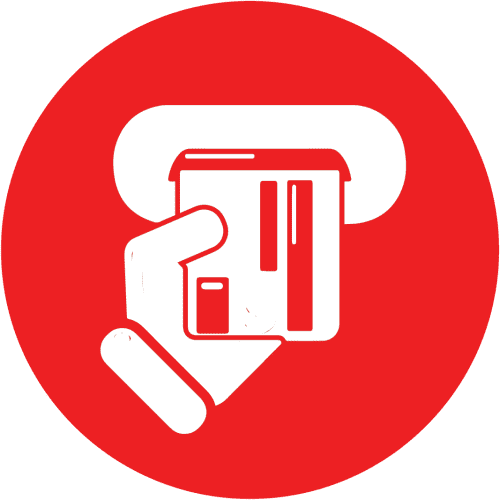 Debit Card Icon Red