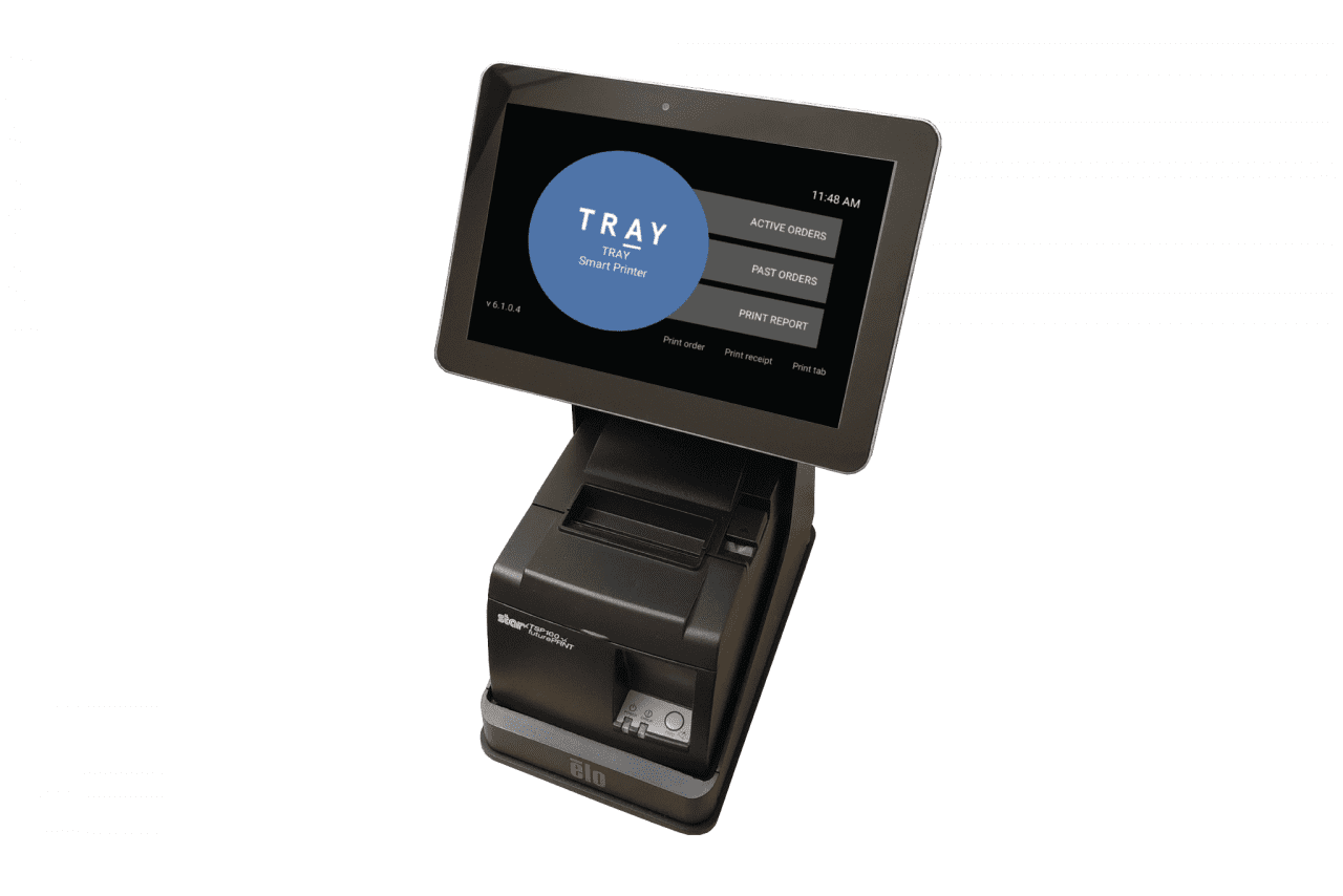 TRAY's patented Smart Printer with display
