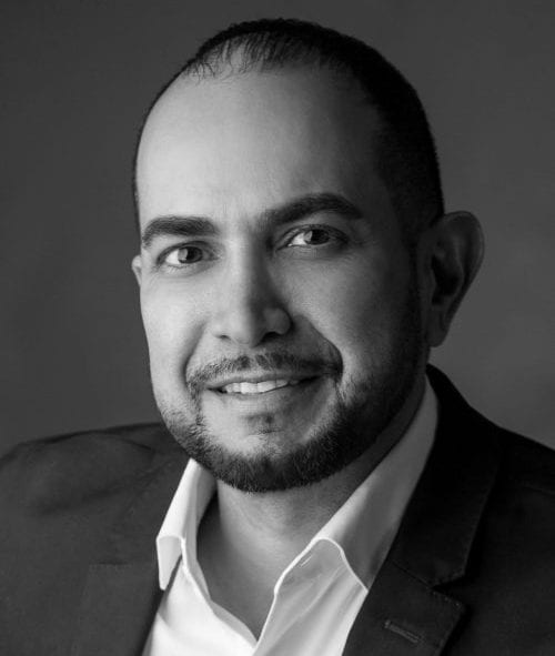 Black and white headshot photo of Ohad Jehassi, President and COO of TRAY